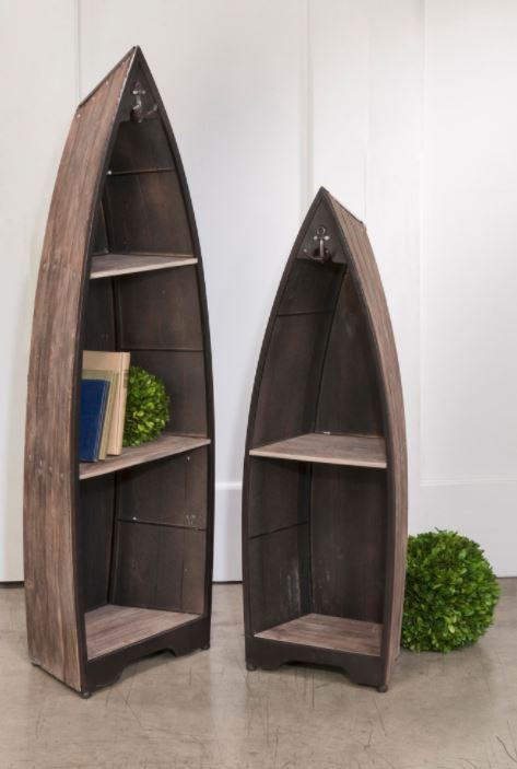 Display Shelves Wood Boat