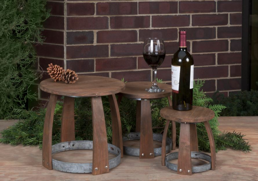 Wood & Metal Vineyard Riser Set