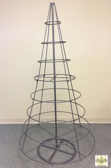 ornament tree large metal rotating tree - Iron Christmas Tree