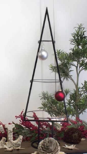 Ornament Display Tree - Simple Wrought Iron 35""