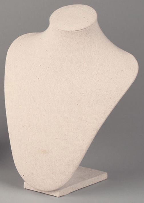 Neck Forms - Medium Cream Linen - Set of 3
