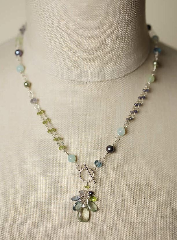 Anne Vaughan Designs - Tranquility Gemstone Cluster Necklace