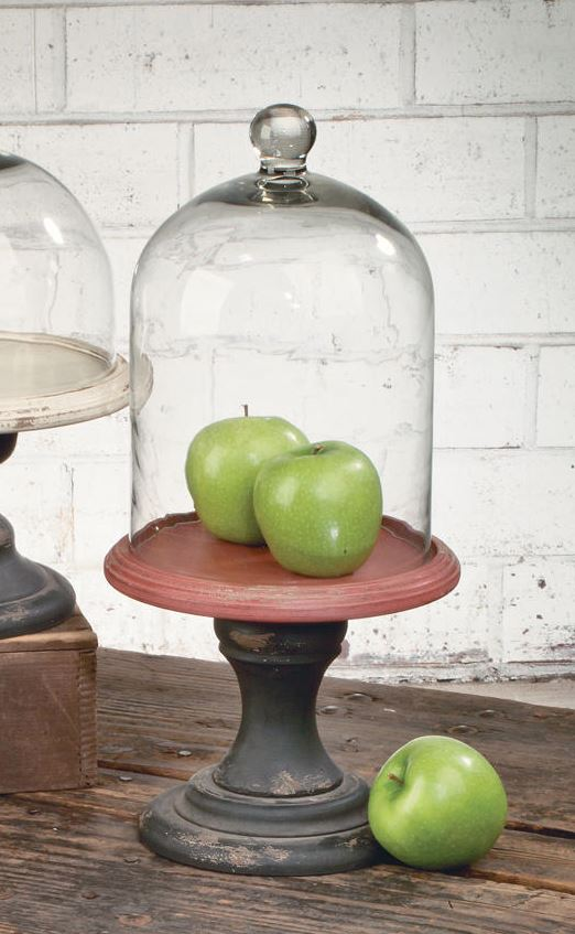 Glass Bell Jar Cloche with Pedestal - Tall