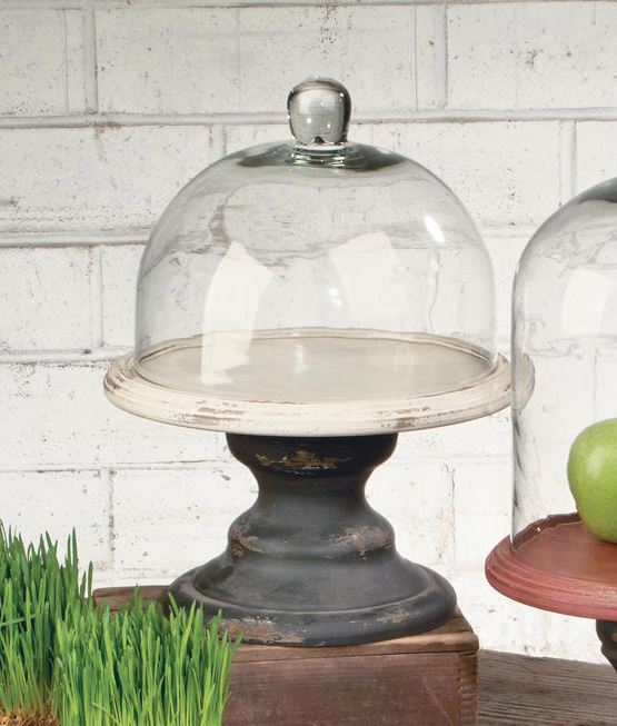 Glass Bell Jar with Pedestal - Short