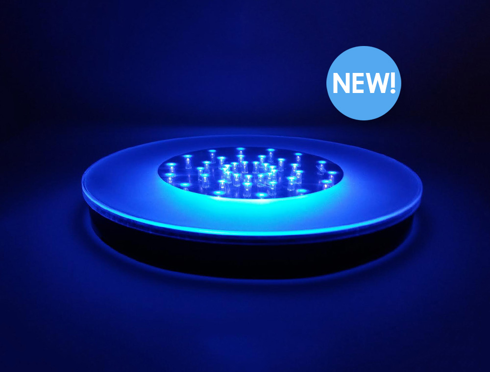 Glowing UV Light Base 10""