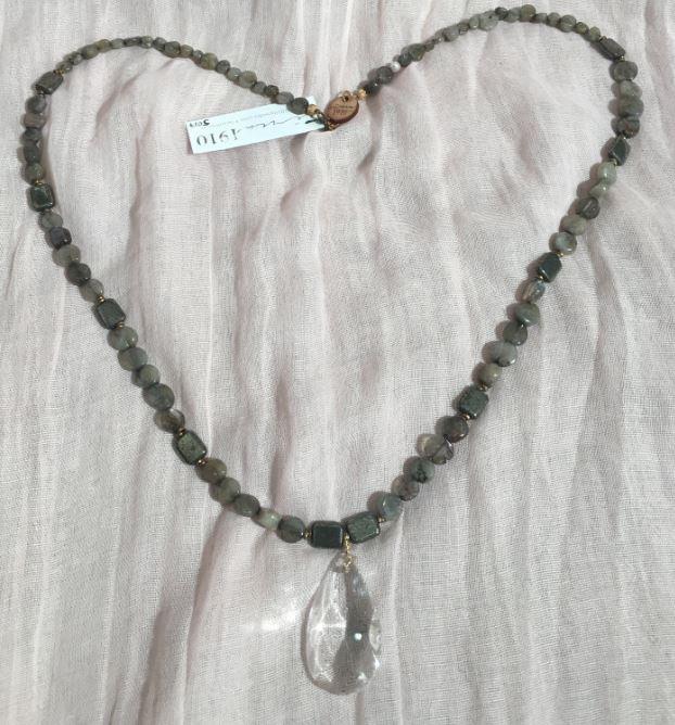 Circa 1910 Victorian Crystal Long Necklace