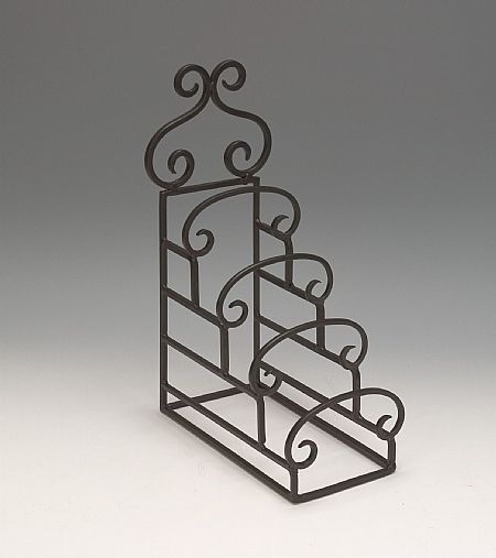 Plate Stands - Wrought Iron Four Tiered - Set of 4