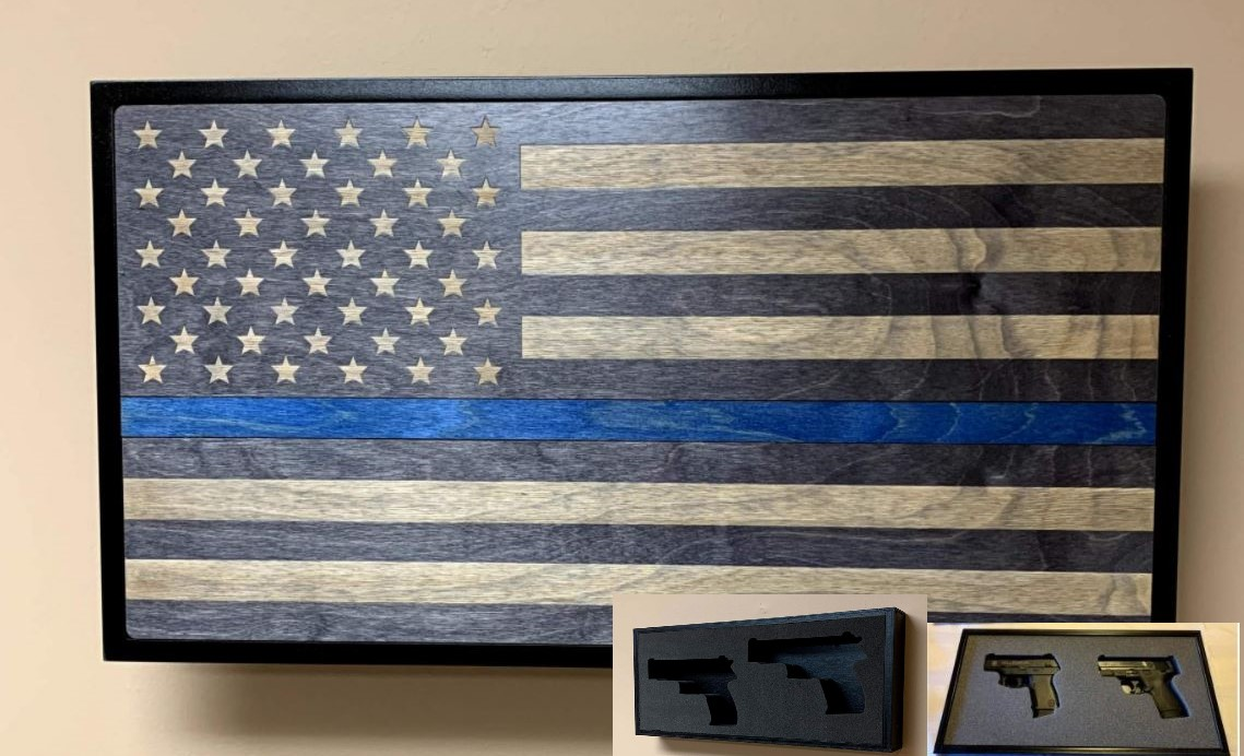 Hideaway Display - Blue Line Service Flag