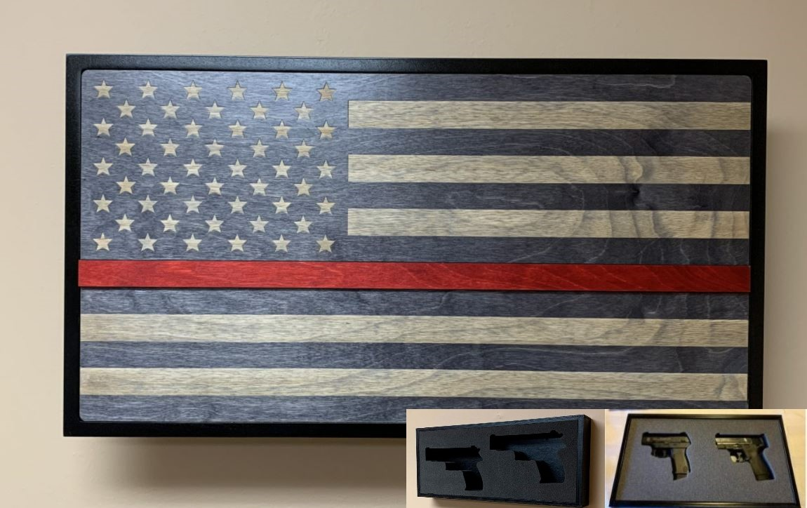 Hideaway Display - Red Line Service Flag