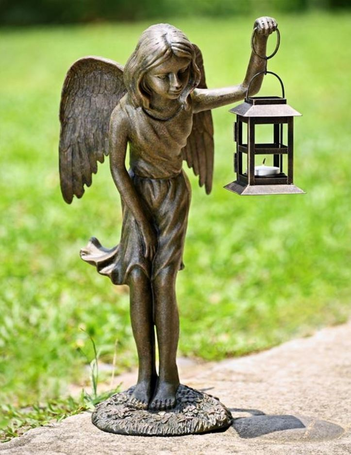 Candle Holder - Angel Girl Lantern