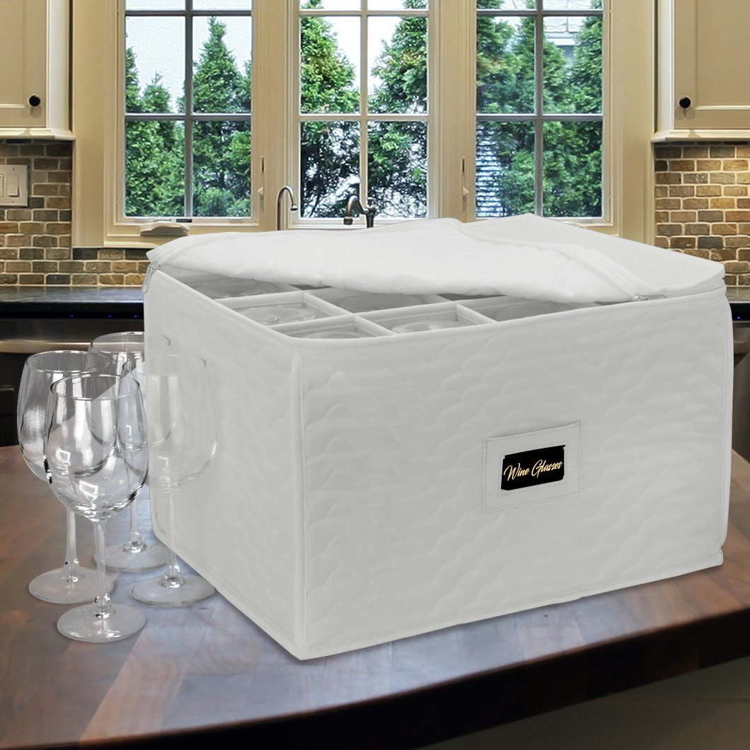 Drinkware Storage - Beige Wine Glass Storage