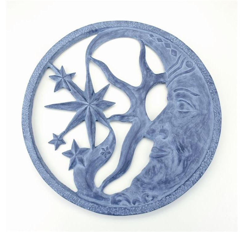 Garden Wall Plaque - Moon & Star