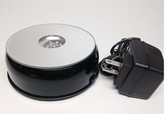 Battery Turntable - Economical - White Lights