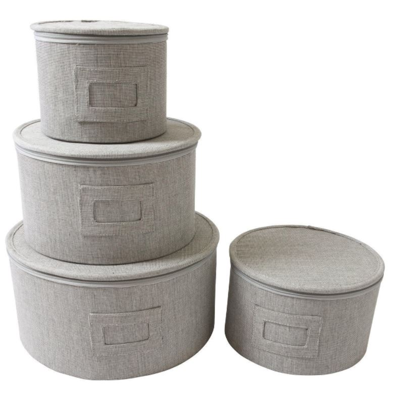 Dinnerware Storage - Gray Twill Hard Side Set