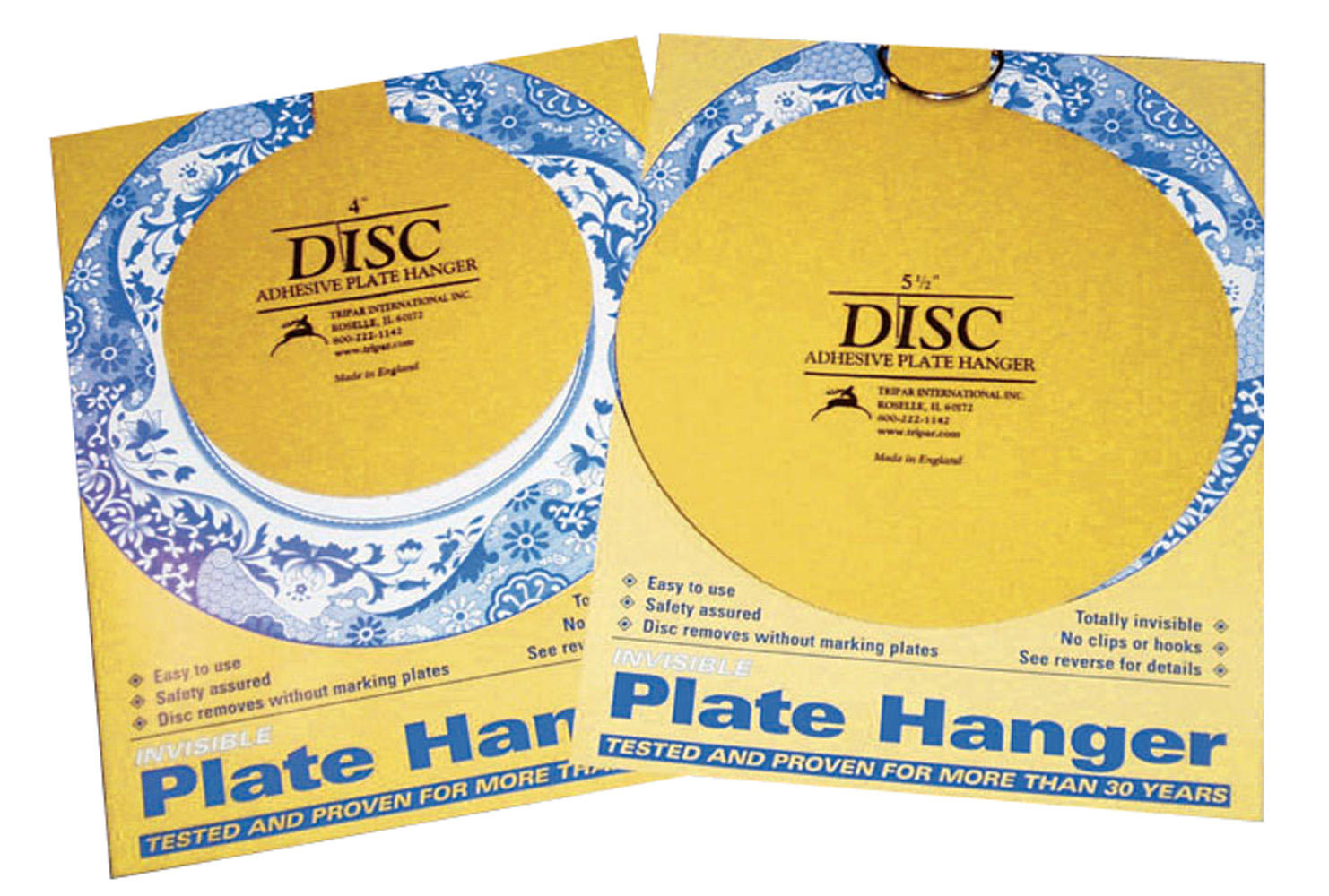 Plate Holders - Self Stick Removable Disc Hangers - Dozen  sc 1 st  Fine Home Displays : heavy duty large plate hangers - pezcame.com