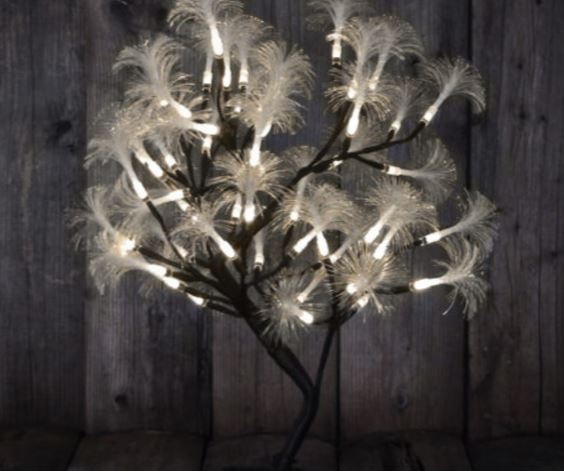 Lighted Display Tree - Fiber Optic Flare