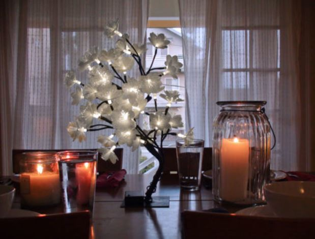 Lighted Display Tree - Fiber Optic Petal