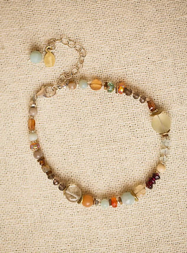 Anne Vaughan Designs - Gentle Breeze Simple Gemstone Bracelet