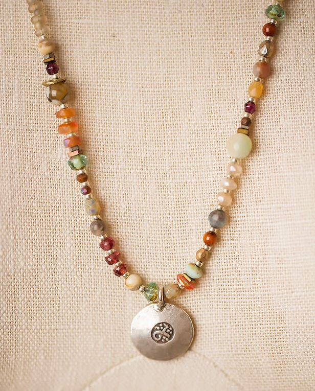 breeze mid length gemstone necklace anne vaughan designs jewelry