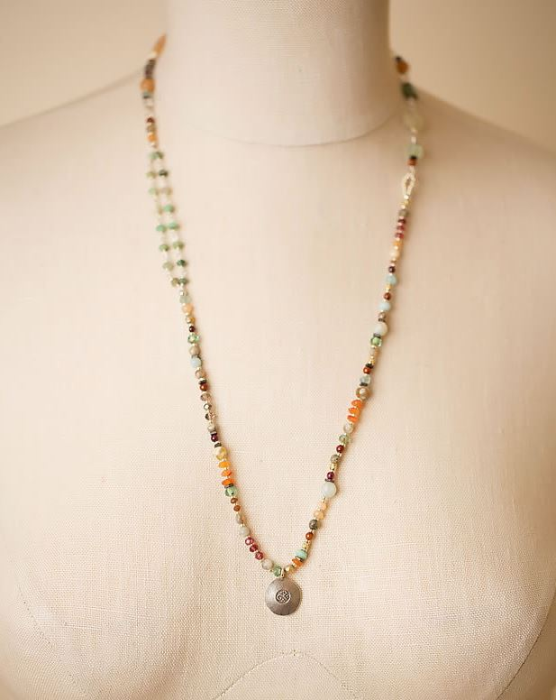 Anne Vaughan Designs - Gentle Breeze Mid Length Gemstone Necklace