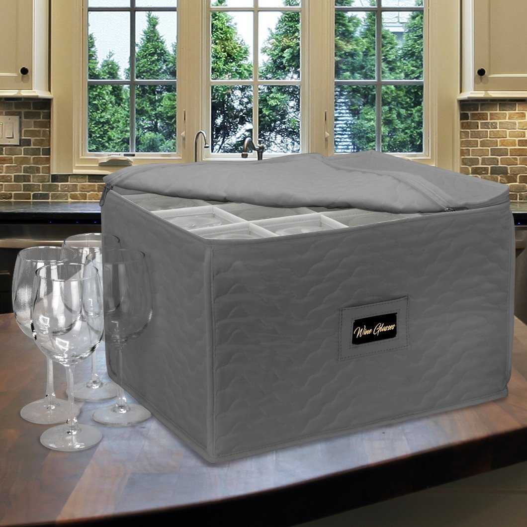 Drinkware Storage - Gray Wine Glass Storage