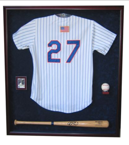 Display Case - Baseball Jersey, Bat & Ball