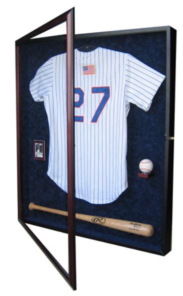 Display Case - Baseball Jersey, Bat & Ball