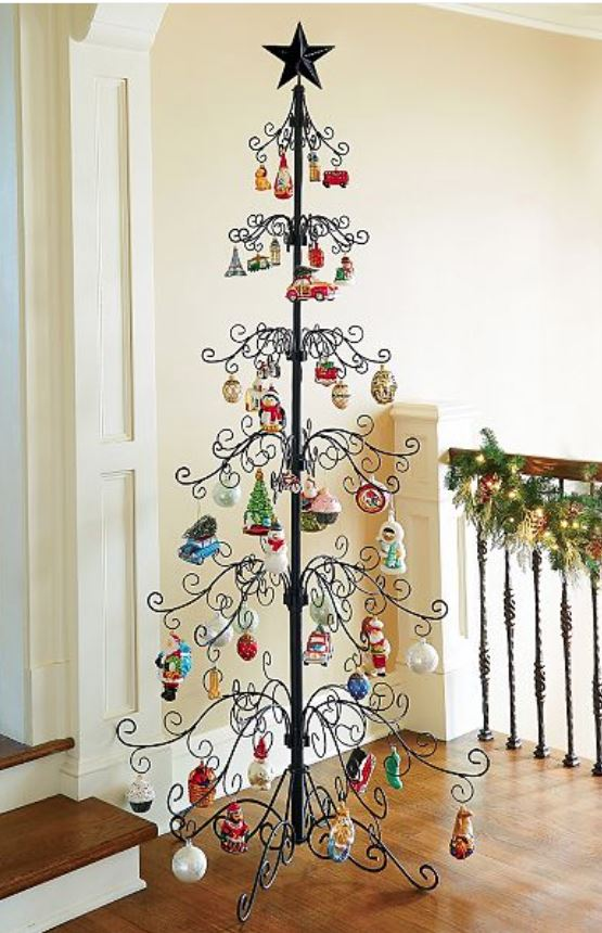 Ornament trees christmas stand and hooks