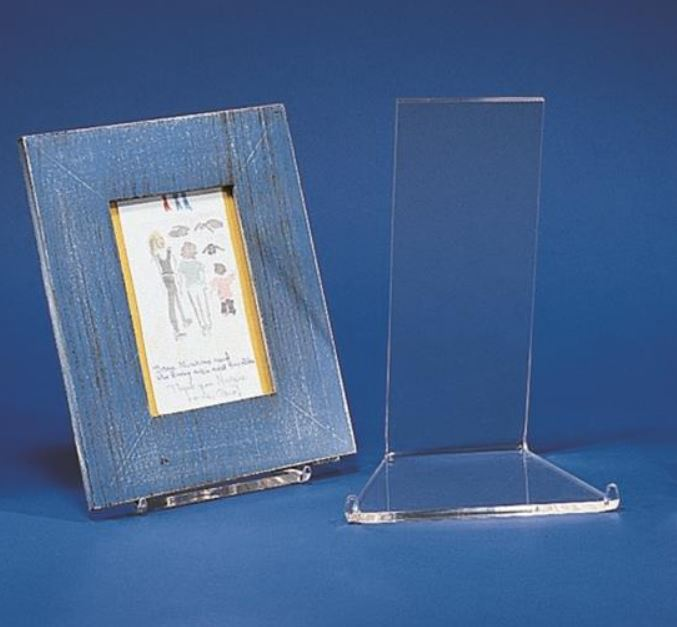 Acrylic Display Stand - Low Profile Easel & Plate Stand Plate Stands Plate Easel u0026 Plate Easels u2013 Fine Home ...