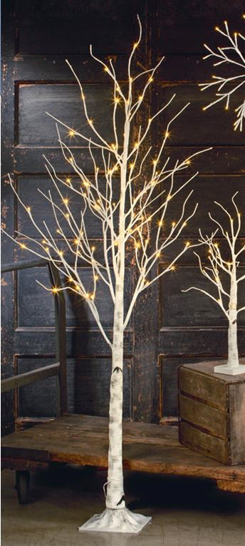 Display Tree - Large Lighted White Birch