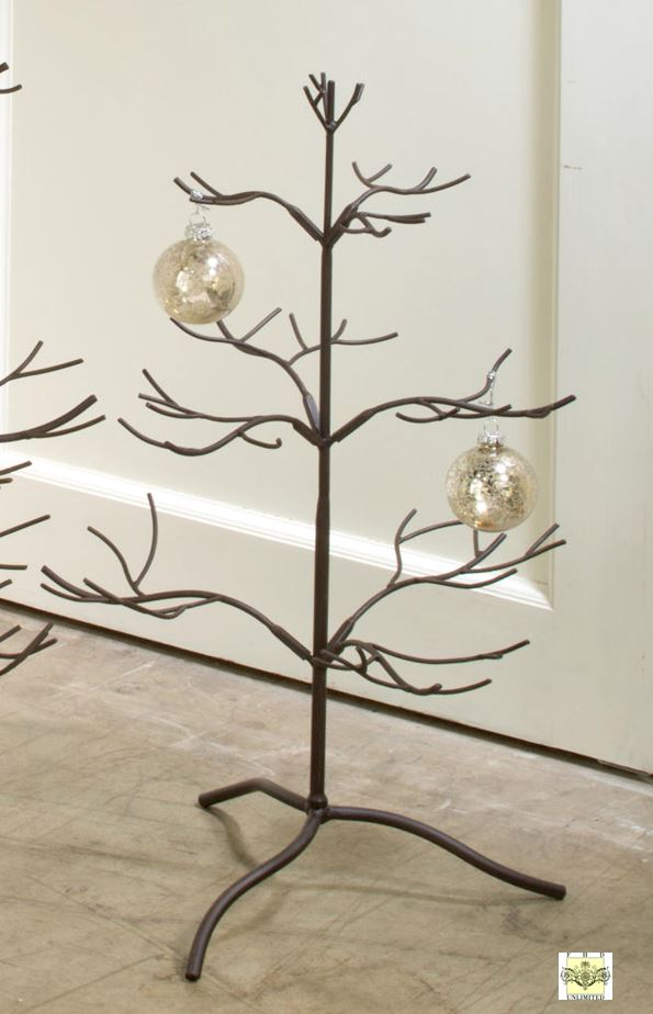 ornament tree brown natural 25 ornament display trees - Metal Christmas Tree Ornament Display