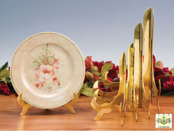 Plate Easels - Solid Brass Large - Set of 2
