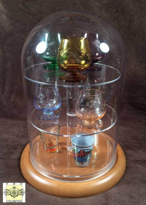Shot Glass Display Dome- 24 Shot Glasses