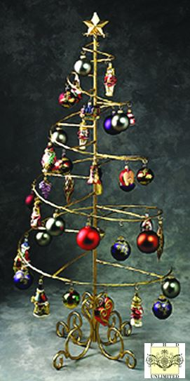 Ornament Trees - Spiral Wire Ornament Tree - 4 Foot