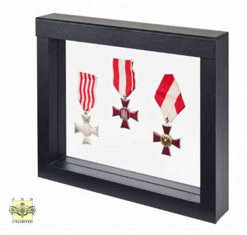 Challenge Coin & Military Medal Display Case - Large Size