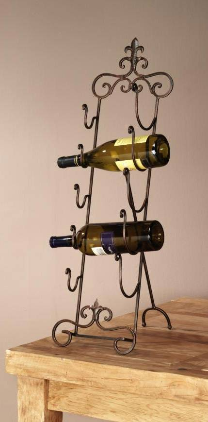 Wine Rack - Fleur De Lis Table Top