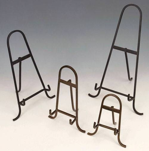 Plate Easels - Wrought Iron Arched - Set of 6