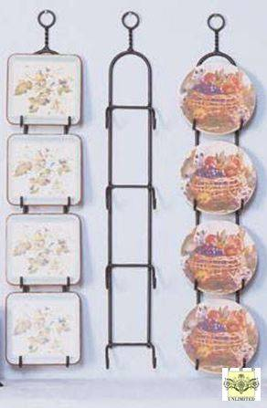Plate Racks Simple Wrought Iron Four Place Hanger For