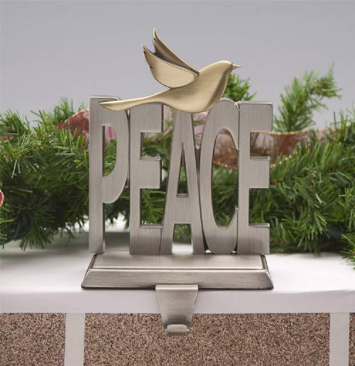 Stocking Hangers - Peace - Set of 2