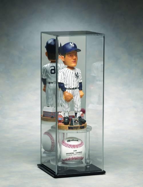 baseball display case acrylic ball and bobblehead display