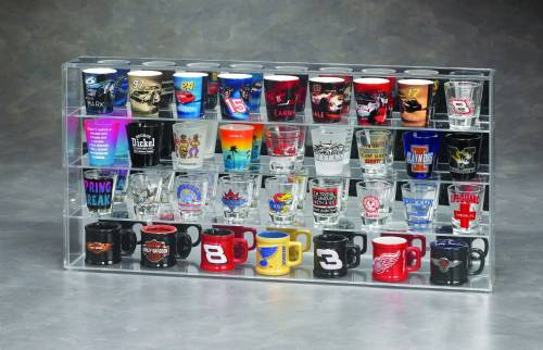 Acrylic Shot Glass Display - 40 Shotglasses