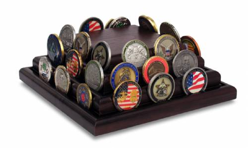 Coin Display - Three Row Challenge Coin Holder