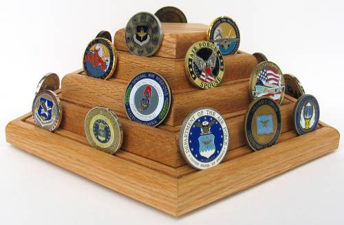 Coin Display - Four Row Challenge Coin Holder