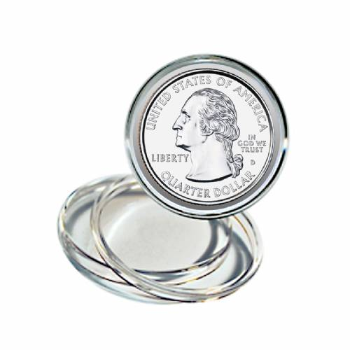 Coin Display Capsules (25 each) Quarter
