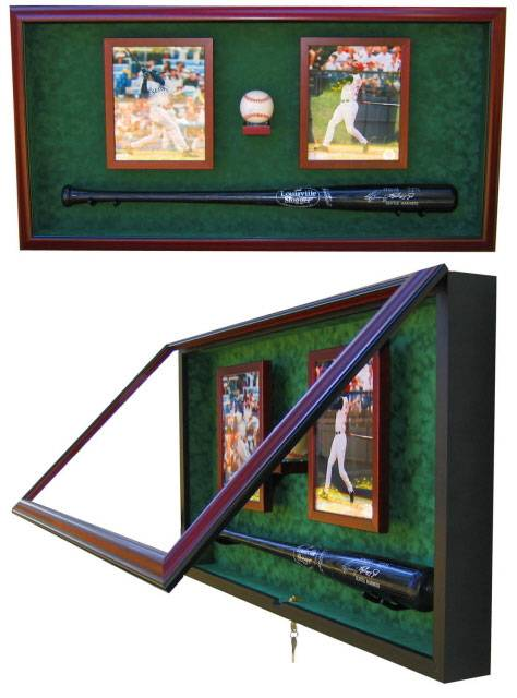 Display Cases Baseball Bat Ball And Photos Baseball