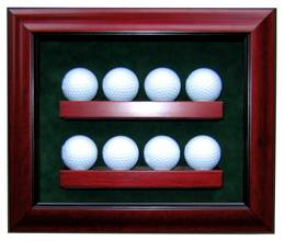 Golf Ball Display Case - Premium for 8 Golf Balls
