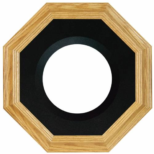 "Plate Frames - Octagon - Oak for 6"" to 9"" Plates"