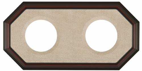 "Plate Frames - Octagon for  7"" to 9"" Plates Double Horizontal"