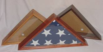 Flag Cases -Solid Wood