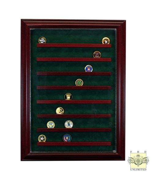 Challenge Coin Display Case - Large 64 or 90 Coin
